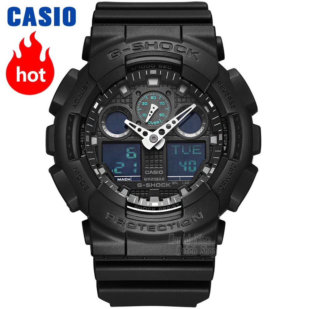 Casio watch G-SHOCK Men's Quartz Sports Watch Trend Camouflage Multifunction g shock Watch GA-100MB 1pcs 478 865pe ga 8ipe1000 g