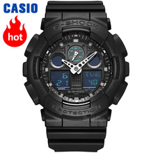 Casio watch Fashion head and hard waterproof sports male table GA-100MB-1A цена