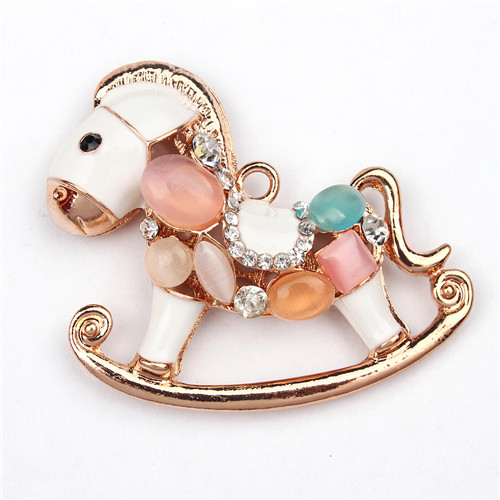 1pcs Bling Rhinestone Horse Charms Pendant for Handmade Craft Fashion Jewelry Making Findings DIY Handmade