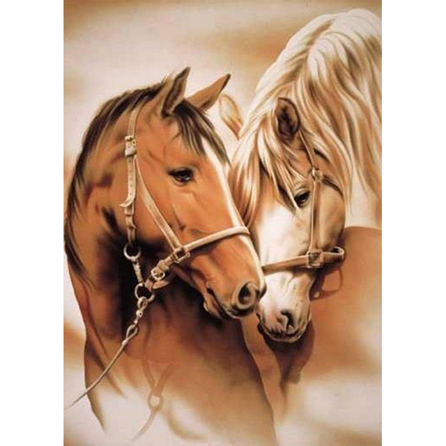 YIKEE diamante Cavalo pintura, pintura diamand complet, pintura diamante quadrado K161 NOVA FERRAMENTA