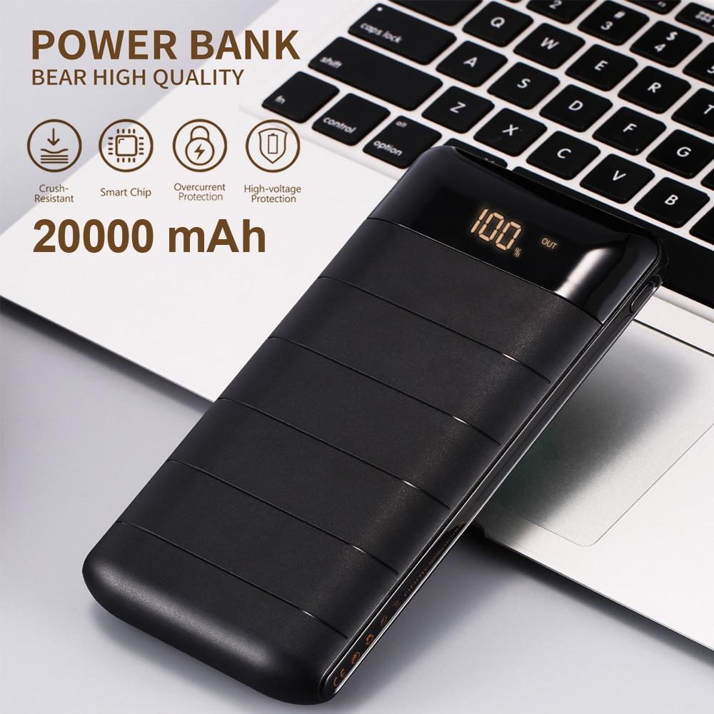 WK Bateria Externa 2A batterie externe 20000 mAh Powerbank 20000 mAh batterie banque pour mi batterie externe 18650 Xiao mi iPhone 7 8 X XS Romoss
