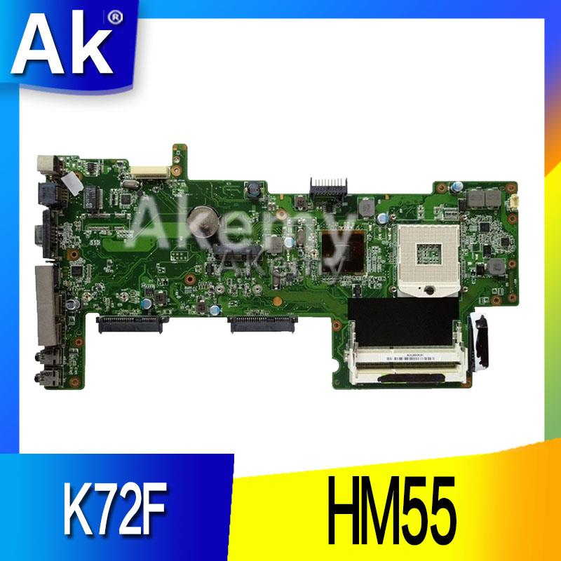AK K72F REV 2 0 HM55 DDR3 Mianboard for Asus K72F A72F X72F Laptop Motherboard HM55