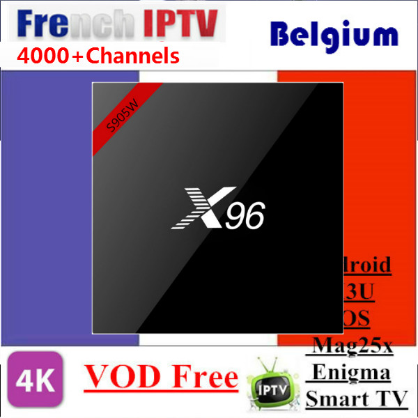 1 Year SUNATV with X96W French IPTV Arabic IPTV Netherland iptv Android 7.1 TV Box Amlogic S905W 2G/16GB 1G/8G Smart Set Top Box телеприставка mobase mxiii amlogic s802 android iptv 2 0 4 4 2 octa gpu 4k 1g 8g xbmc