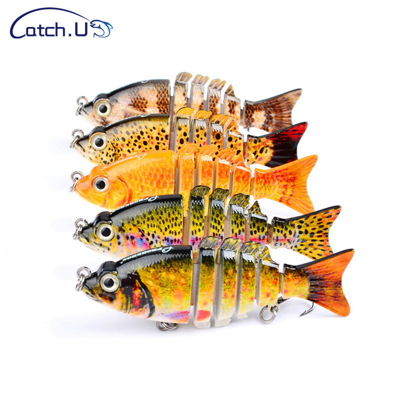 Catch.u 11g 9cm 5 Colors Hard Wobblers Fishing Lure 6 Segment,fishing Lure Wobblers River Jig Lure Providing Amenities For The People; Making Life Easier For The Population