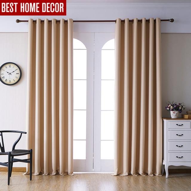 US $13.27 60% di SCONTO Moderna tende oscuranti per soggiorno tende camera  da letto per il trattamento di finestra tende giallo finito tende oscuranti  ...
