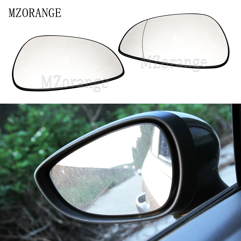 For VW Scirocco 2008-2017 Right Driver side Flat Electric wing door mirror glass Lusterka zewnętrzne, akcesoria