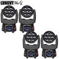 Бесплатная доставка 4 шт./лот Bee Eye 7*15 Вт RGBW 4в1 светодиодная движущаяся головка Zoom DMX512 профессиональное Dj оборудование освещение