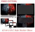 Топ Продаж Красочный Ноутбук Наклейки ПВХ Личность Ноутбук Скины Случае Свободной Резки Защитные Наклейки Для Asus D451V D451
