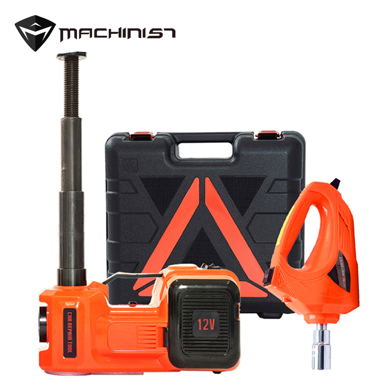 Vehicle-mounted 5Ton 3 in 1 Car 12V Electric Jack liftting Hydraulic Pressure Power-driven Jack Floor Jack Auto maintenance tool pneumatic airbag jack pneumatic jack white air pressure auto jack instrument of vehicle maintenance and repair