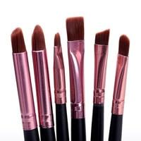 6 Pcs/Set Women\'s Pro Makeup brush Set Powder Eyeshadow Eyeliner Lip Beauty Brushes H1JH2