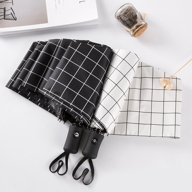 Портативный практичный мини автоматический зонт с мультяшным медведем Компактный Карманный Женский 5 складной зонт с черным покрытием Защита от солнца УФ