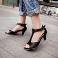 2016 Real Gladiador Sandalias Mujeres Más Damas de Gran Tamaño Zapatos de Mujer de Tacón Alto Bombas Sapato Feminino Verano Estilo Chaussure Femme 318
