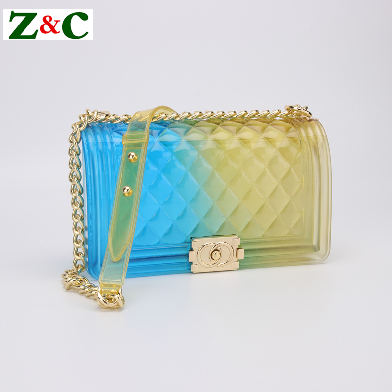 New Fashion Girl Shoulder Messenger Bag PVC Chic Colorful Matte Jelly Chain Women Bags Luxury Handbags High Quality Channels Bag chic quality colorful flowers and riding girl pattern removeable wall stickers