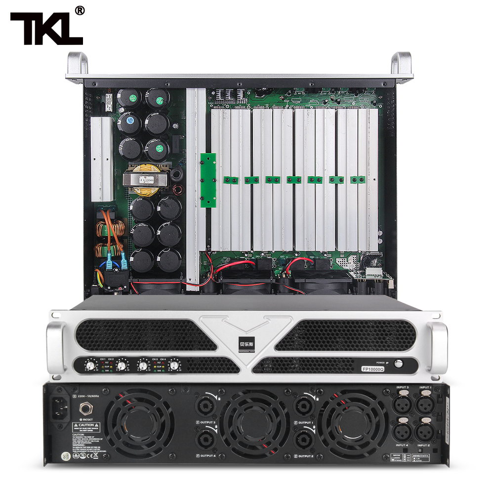 TKL PS4 professional power amplifier 1300Wx4 dj Audio Power HiFi Amplifier Speaker with Remote Control for