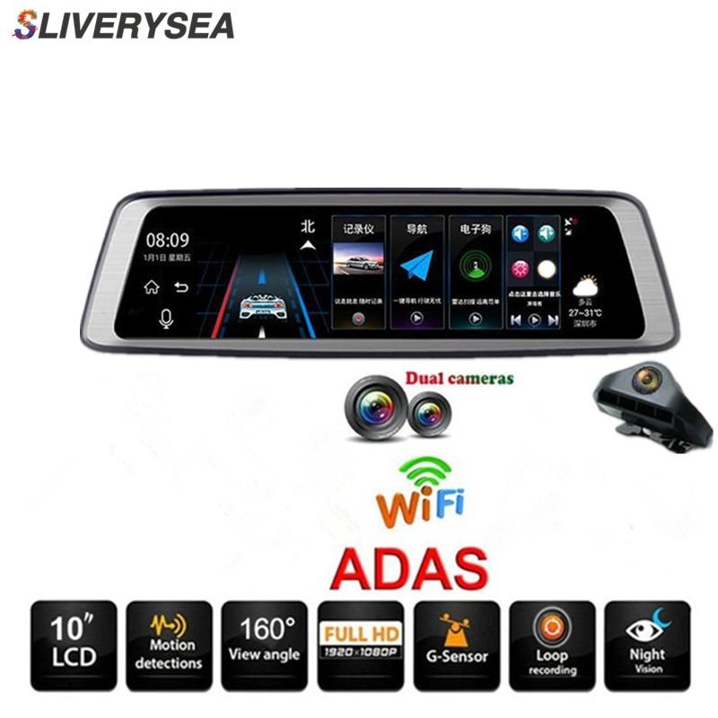 10 Écran tactile Bluetooth WiFi 4G Android Voiture DVR Caméra 1080 P Full HD Vue Arrière Vidéo Enregistreur registraires Dash Cam # B1166