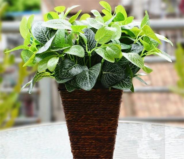 Artificial Rabano Verde Calla Hiedra Reticulada Hoja Bush - Plantas-verdes-exterior