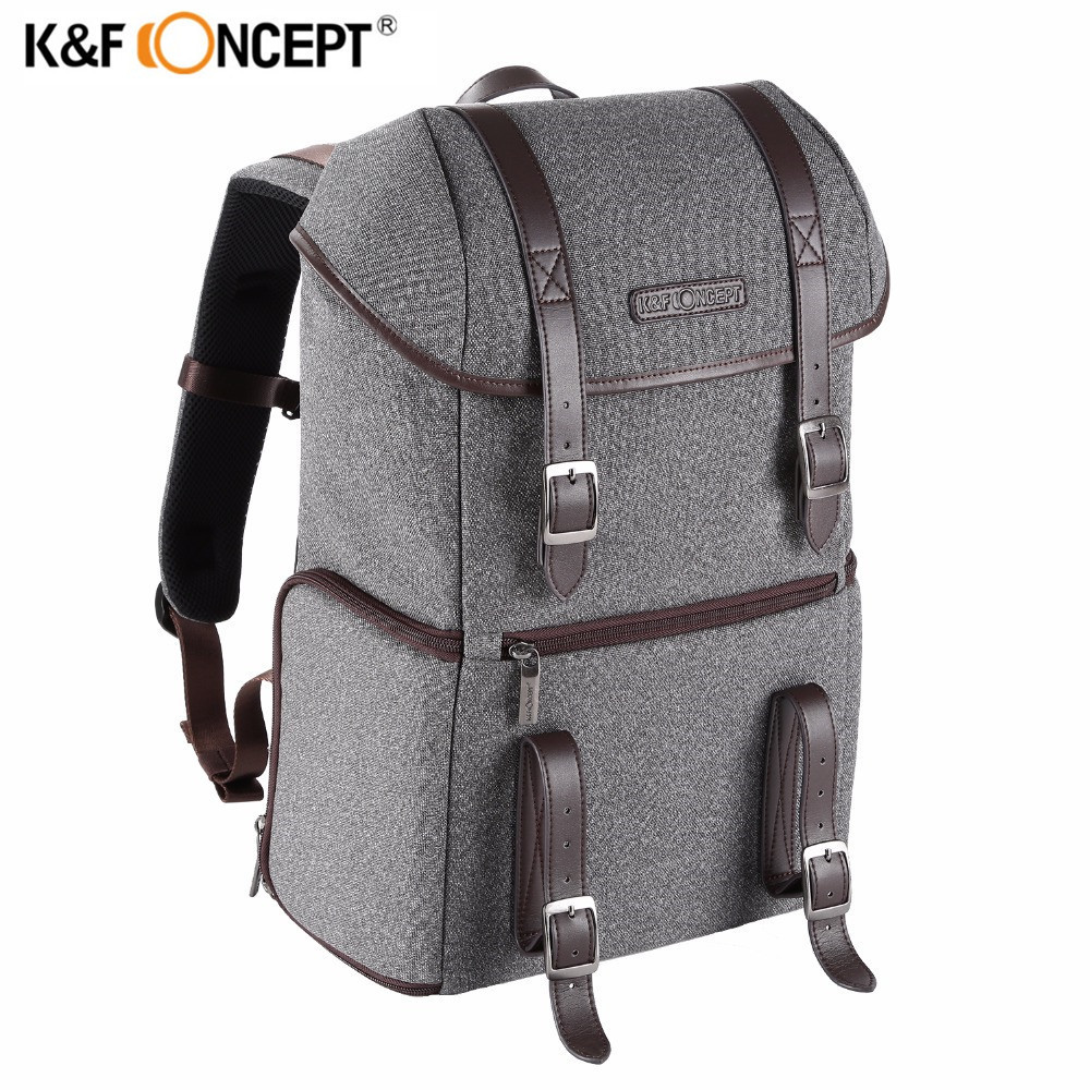 K&F CONCEPT New Camera/Photo Backpack Waterproof Multifunctional Casual Travel Bag With Removable Inner Dividers For DSLR/Laptop free shipping new lowepro mini trekker aw dslr camera photo bag backpack with weather cove