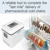 Dison Батарея работает СВЕТОДИОДНЫЙ Дисплей 1.5L термостатический боксового Портативный инсулина медицина холодильник Портативный сумка мини