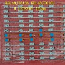 20 шт./лот, светодиодный фонарь с подсветкой для KONKA KDL48JT618A KDL48JT618U 35018539 35018540 6 светодиодный S(6 в) 442 мм