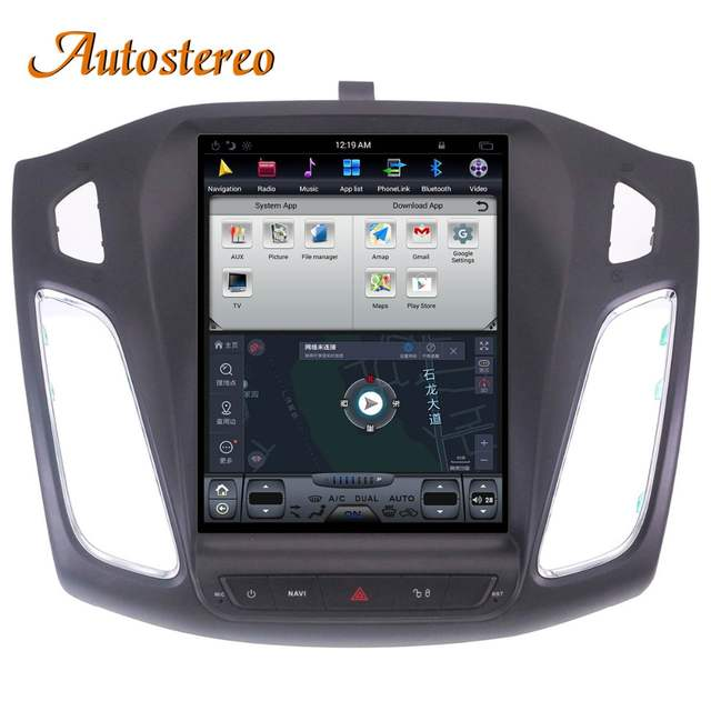 Android 7 1 Big Screen Tesla style Car DVD Player GPS Navigation For Ford  Focus 2012-2017 Auto navi stereo headunit multimedia