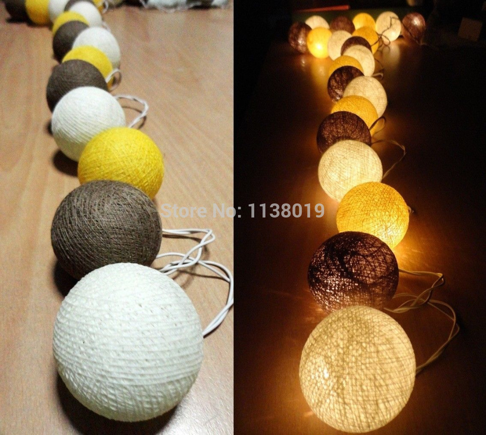 aliexpress : buy caramel yellow tone 20 cotton ball string