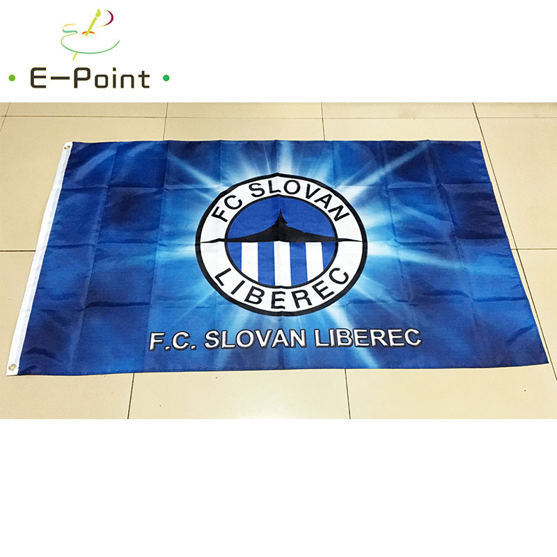 Czech Republic FC Slovan Liberec 3ft*5ft (90*150cm) Size Christmas Decorations for Home Flag Banner Gifts