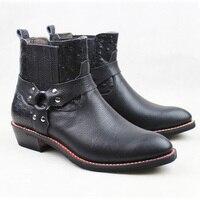 Ограниченная серия сапоги Для мужчин модные из натуральной яловой кожи рабочие ботинки Для мужчин армейские ботинки Для мужчин мотоцикл дл