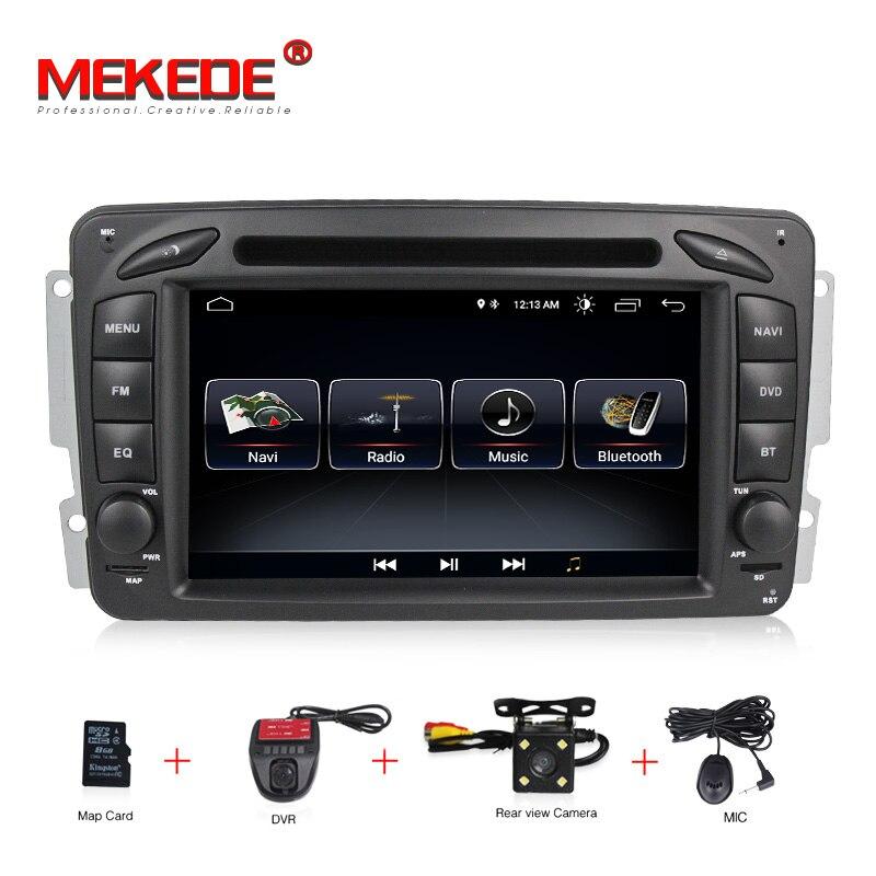2DIN Android 8.0 dvd de Voiture lecteur multimédia radio Pour Mercedes Benz W209 W203 W168 ML W163 W463 Viano W639 Vito GPS Navigation BT