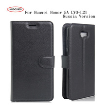 Luxury Fundas Cases HUDOSSEN For Huawei Honor 5A LYO-L21 LYO L21 5.0 Inch Russia Version Phone Coques Leather Flip Covers Bag