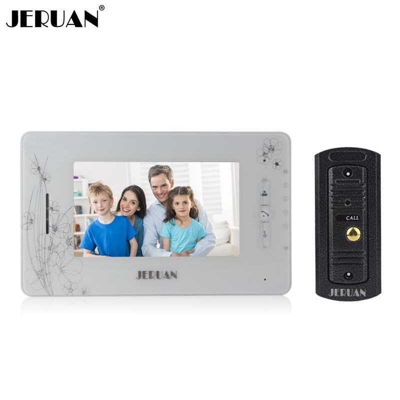 JERUAN 7 monitor video recording photo taking doorphone speaker intercom system Video door phone intercom 1