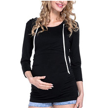 2018 Maternity Tops  Nursing Hoodies Pregnant Women T-Shirts Breastfeeding Clothes For Pregnant Women Long Sleeve Shirt Hoodie