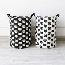 new cat barrels storage folding waterproof dirty clothes toys cartoon laundry basket bag large wash laundry