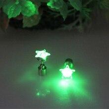 20 pairs Blink Estrellas Pernos Prisioneros Del Pendiente de La Manera Pendientes Light Up LED Con Batería Accesorios del Banquete de Boda de Cumpleaños de la Danza Para Las Mujeres