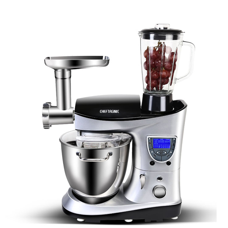 Household multi-function chef machine 7L mixer / egg beater / dough maker / meat grinder / sausage filler / juicer SM-1088 cukyi household electric multi function cooker 220v stainless steel colorful stew cook steam machine 5 in 1