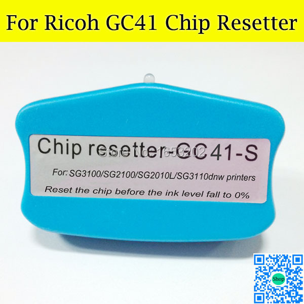 GOOD Chip Resetter For Ricoh GC41 Use For Ricoh SG3100 SG2100 Printer chip resetter for ricoh sg2010l sg2100 sg2100l sg3100 sg3110dn sg3120sf sg7100 printer cartridge and maintenance tank chip