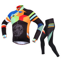BATFOX Autumn Winter Men Cycling Sets Long Sleeve Thermal Fleece Mountain Bicycle MTB Ropa Ciclismo Maillo