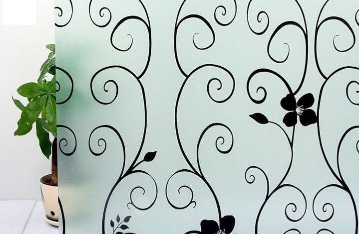 45 * 300cm prvotřídní vinylová samolepící dekorativní matná ochranná fólie do oken pro koupelny, kuchyně, kanceláře, kanceláře