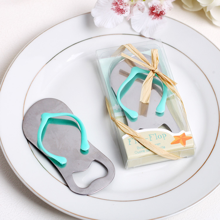 3b36a878f Summer Beach Silver Metal Flip Flops Bottle Wine Opener Favour Anniversary  Wedding favors gifts Party supplies Free Shipping-in Spoons from Home    Garden on ...