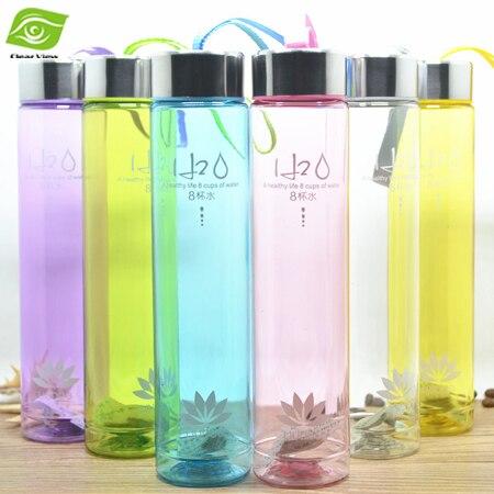 1 UNID Parejas Creativas BottleOutdoor Viajes Botella de Agua de Plástico Con Cu