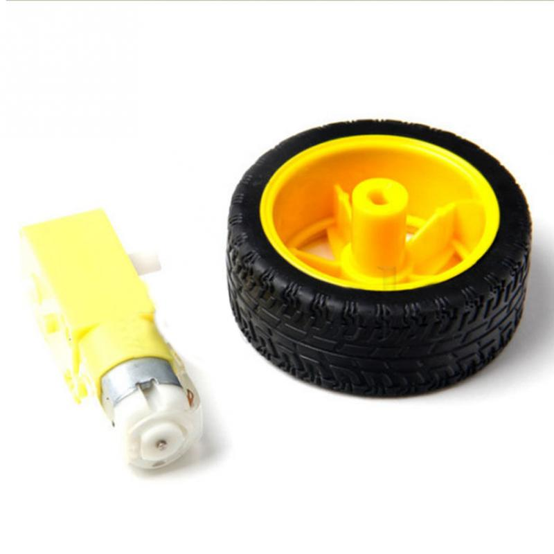 Intelligentes Auto Roboter Plastikreifen Rad Getriebemotor 3-6V Für Arduino