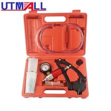 Hand Held Vacuum Pump& Brake Bleeder Kit Aluminum Pump Body Pressure Vacuum Gauge стоимость