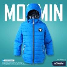 Boys winter outerwear 2015 Moomin Fashion Polyester zipper pocket Gray parka reima jacket