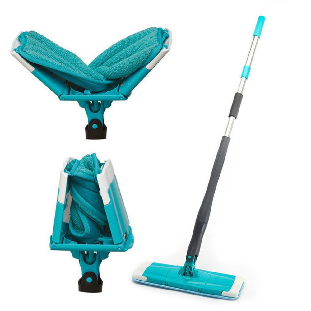 360 degree Spin Twist Rotating Mop Self-wringing Reusable Flat Mops Hard Floor Cleaning Mop Easy Bucket Microfiber Mop Cleaner 360 degrees