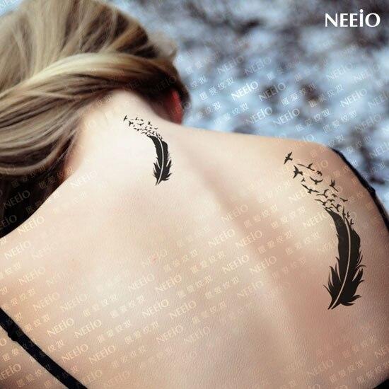 oiseau plume tatouages achetez des lots petit prix oiseau plume tatouages en provenance de. Black Bedroom Furniture Sets. Home Design Ideas