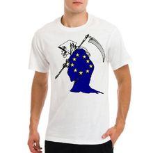 NO EU, Bretix, Brexit anti Unión Europea, muerte, stop ue camiseta blanca para hombre nuevas camisetas divertidas camisetas nuevas