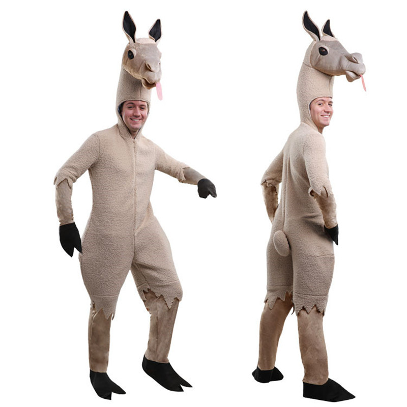 South America alpaca costume for adults lovely animal costume animal cosplay costume funny costume for men-in Holidays Costumes from Novelty & Special Use    1
