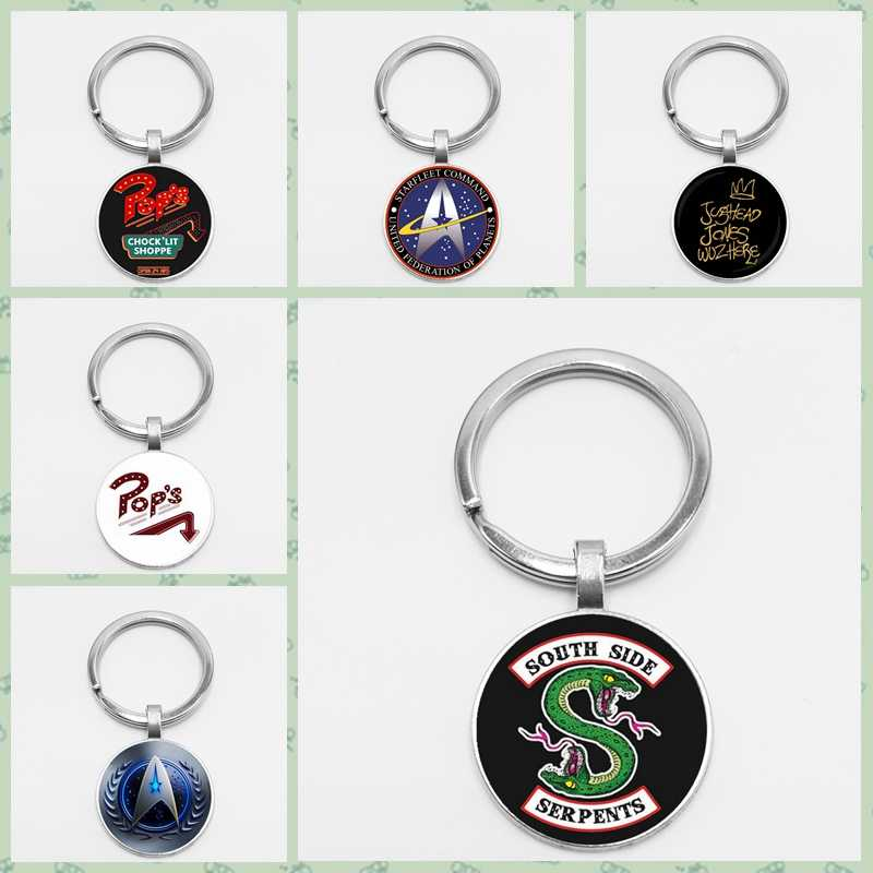 2019HOT! Arrival At The Riverdale Keychain Riverdale Jewelry Glass Dome Pendant Keyring Silver Handmade Key Chain