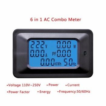 20A/100A AC LCD wyświetlacz cyfrowy moc watomierz Monitor napięcie KWh woltomierz amperomierz Tester narzędzia