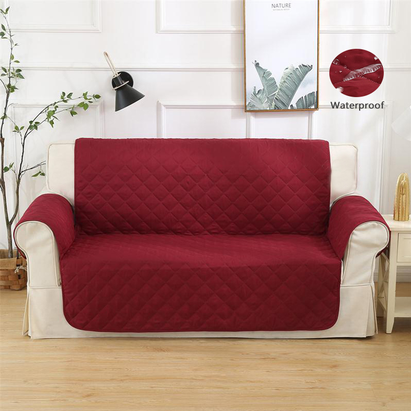 Slipcovers Waterproof Quilted Sofa Cover Anti Slip Couch Coat for Dog Protector