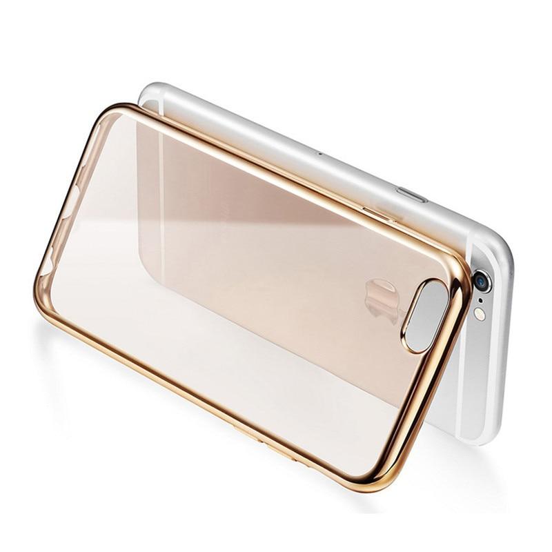 För Apple iPhone 7 Fodral Mjuk Klar TPU-fodral Ultrathin Rose Gold - Reservdelar och tillbehör för mobiltelefoner